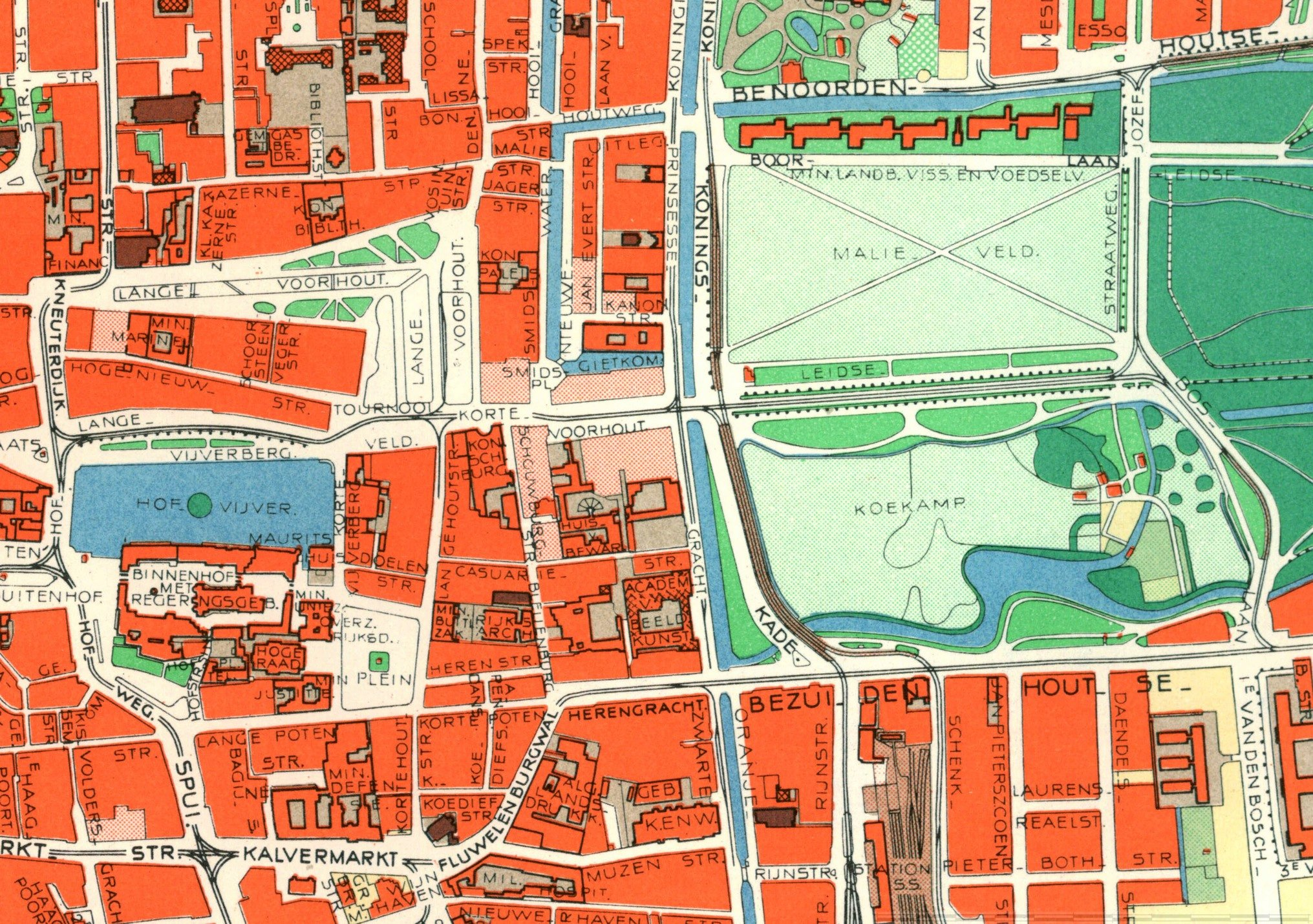 Kaart Den Haag Centrum   digtotaal